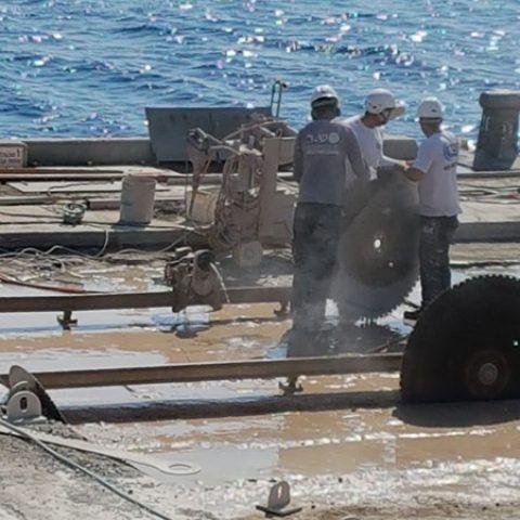ניסור בטון בנמל