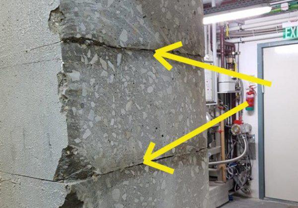 ביצוע ניסור בטון בכבל